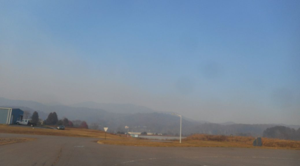 Smoke in the Franklin, NC, area. Photo courtesy of Chris Bessette.
